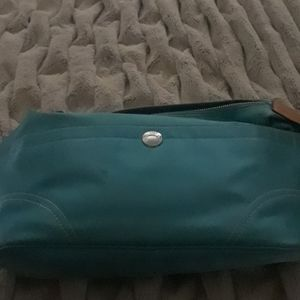 Coach aqua purse Sateen Hobo bag